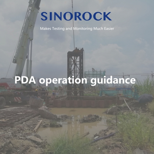 RSM-PDT(B) pile dynamic analyzer on site operation guidance