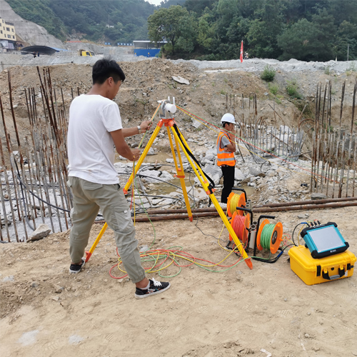 Ultrasonic testing of piles for estimate abnormal phenomena and Analysis of the causes of defects